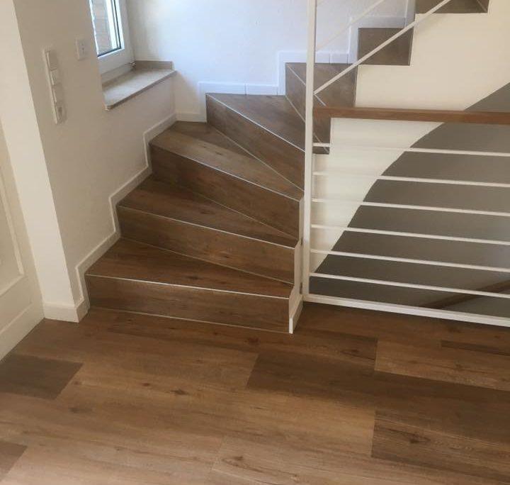 Treppenstufen und Fussböden aus Designboden-2